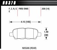 Recently Added Products - Hawk Performance - Hawk Performance HPS Compound Brake Pads High Torque Front Nissan/Infiniti 2002-15 - Set of 4