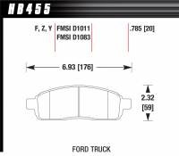 Brake Pad Sets - Truck - 2004-08 Ford Truck D1083 Pads (D1083) - Hawk Performance - Hawk Disc Brake Pads - LTS w/ 0.785 Thickness