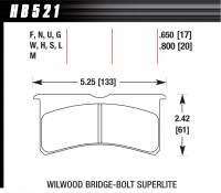 Brake Pad Sets - Circle Track - Wilwood Forged Superlite, SL 6 (7420) - Hawk Performance - Hawk Performance Superlite Bridgebolt DTC-70