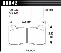 Brake Pad Sets - Street Performance - Wilwood NDL 7816 Pads (7816) - Hawk Performance - Hawk Disc Brake Pads - DTC-30 w/ 0.600 Thickness