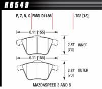 Recently Added Products - Hawk Performance - Hawk Performance HPS Compound Brake Pads High Torque Front Mazda/Volvo 2005-13 - Set of 4