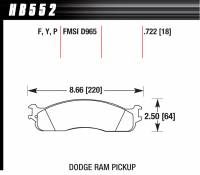 Dodge Ram 2500HD/3500 Brakes - Dodge Ram 2500HD/3500 Disc Brake Pads - Hawk Performance - Hawk Performance Street Brake Pad (4)