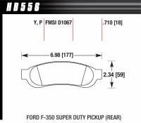 Brake Pad Sets - Truck - 2005-11 Ford Super Duty Truck D1067 Pads (D1067) - Hawk Performance - Hawk Disc Brake Pads - LTS w/ 0.710 Thickness