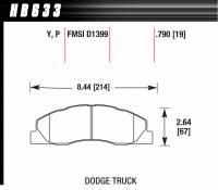 Brake Pad Sets - Truck - 2009-11 Dodge 2500/3500 Truck D1399 Pads (D1399) - Hawk Performance - Hawk Performance Street Brake Pads (4)
