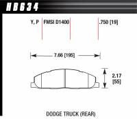 Dodge Ram 2500HD/3500 Brakes - Dodge Ram 2500HD/3500 Disc Brake Pads - Hawk Performance - Hawk Performance Street Brake Pads (4)