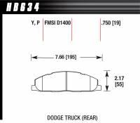 Dodge Ram 1500 - Dodge Ram 1500 Brakes - Hawk Performance - Hawk Performance Street Brake Pads (4)
