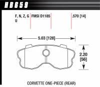 Street Performance USA - Hawk Performance - Hawk Disc Brake Pads - HPS Performance Street w/ 0.570 Thickness