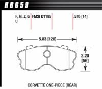 Chevrolet Corvette Brakes - Chevrolet Corvette Disc Brake Pads - Hawk Performance - Hawk Disc Brake Pads - Performance Ceramic w/ 0.570 Thickness