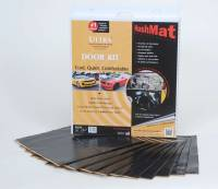 "Hushmat - Hushmat Ultra Door Kit Heat and Sound Barrier 12 x 12"" Sheet 1/8"" Thick Rubber - Black"