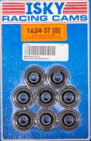"Isky Cams - Isky Cams 1.000 in/0.745"" OD Steps Valve Spring Retainer Dual Spring Chromoly - Set of 8"