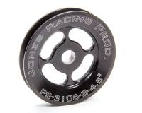 "Power Steering Pulleys - V-Belt Power Steering Pulleys - Jones Racing Products - Jones Racing Products V-Belt Power Steering Pulley 1 Groove Press-On 4-1/2"" Diameter - Aluminum"