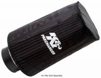 "Air Cleaners and Intakes - Air Filter Wraps and Pre-Filters - K&N Filters - K&N  PreCharger® Air Filter Wrap - 6"" Base - 4-5/8"" Top - 9"" Tall - Polyester - Black"