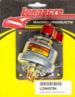 Battery - Battery Disconnect Switches - Longacre Racing Products - Longacre Battery Disconnect Panel Black 4 Post