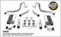 Ford Mustang (3rd Gen) Exhaust - Ford Mustang (3rd Gen) Exhaust Systems - Magnaflow Performance Exhaust - Magnaflow Stainless Steel Cat-Back Performance Exhaust System - 4 x 9 x 14 in. Muffler