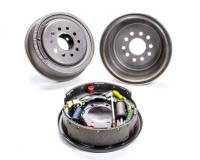 "Brake System - Moser Engineering - Moser Engineering Rear Brake System 10"" Plain Drum Backing Plate/Hardware/Shoes Included Iron - Natural"