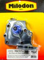 Oil Pump Components - Oil Pump Covers - Milodon - Milodon Billet Oil Pump Cover & Filter Boss - Wedge