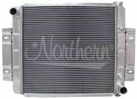"""Recently Added Products - Northern Radiator - Northern Radiator 23-3/4"""" W x 19-5/8"""" H x 3-1/8"""" D Radiator Pass Inlet/Driver Outlet Aluminum Natural - V8 Conversion"""