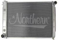 """Recently Added Products - Northern Radiator - Northern Radiator 26-1/4"""" W x 18-1/2"""" H x 3-1/8"""" D Radiator Pass Inlet/Driver Outlet Aluminum Natural - Auto-Trans"""