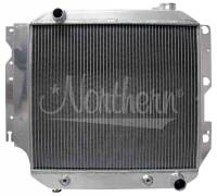 """Recently Added Products - Northern Radiator - Northern Radiator 21"""" W x 21"""" H x 3-1/8"""" D Radiator Pass Inlet/Driver Outlet Aluminum Natural - V8 Conversion"""