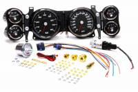 Recently Added Products - New Vintage USA - New Vintage USA Performance Gauge Kit Analog Fuel Level/Oil Pressure/Speedometer/Tachometer/Voltmeter/Water Temperature Black Face - GM F-Body 1970-78