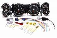 New Vintage USA - New Vintage USA Performance Gauge Kit Analog Fuel Level/Oil Pressure/Speedometer/Tachometer/Voltmeter/Water Temperature Black Face - GM F-Body 1970-78