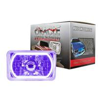 """Headlights and Components - Headlight Bulbs - Oracle Lighting Technologies - Oracle Lighting Technologies Sealed Beam Headlight 4 x 6"""" Halo LED Ring Requires H4 Bulb - Glass/Plastic"""
