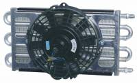 """Drivetrain Components - Perma-Cool - Perma-Cool Maxi-Cool Fluid Cooler and Fan 6 Pass 15-1/2 x 7-1/2 x 3"""" Tube Type - 6 AN Male Inlet/Outlet"""