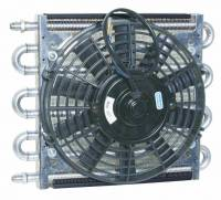 """Drivetrain Components - Perma-Cool - Perma-Cool Maxi-Cool Fluid Cooler and Fan 8 Pass 12-1/2 x 10 x 3"""" Tube Type - 6 AN Male Inlet/Outlet"""