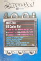 "Exhaust System - Perma-Cool - Perma-Cool Maxi-Cool Fluid Cooler 6 Pass 14 x 10-1/2 x 1-1/2"" Tube Type - 3/8"" NPT Female Inlet/Outlet"