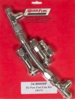 Carburetor Accessories - Fuel Lines - Quick Fuel Technology - Quick Fuel Technology By Pass Reg Fuel Line Kit #8AN Silver