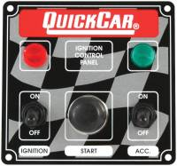 Switch Panels - QuickCar Switch Panels - QuickCar Racing Products - QuickCar ICP01 Ignition Panel - Ignition Switch w/ Accessory Switch, Start Button & 2 Pilot Lights
