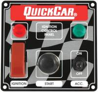Switch Panels - QuickCar Switch Panels - QuickCar Racing Products - QuickCar ICP01 Ignition Panel - Flip Cover Ignition Switch w/ Accessory Switch, Start Button & 2 Pilot Lights