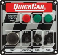 Switch Panels - QuickCar Switch Panels - QuickCar Racing Products - QuickCar ICP01 Ignition Panel - Ignition Switch - 2 Accessory Switch w/ Start Button & 3 Pilot Lights