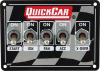 Switch Panels - QuickCar Switch Panels - QuickCar Racing Products - QuickCar Dual Ignition Dirt Ignition Control Panel W/ 3 Wheel Brake Switch