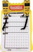 Timing & Scoring - Timing Clipboards - QuickCar Racing Products - QuickCar Clipboard Timing System - Yellow - (2) Robic SC505 Watches