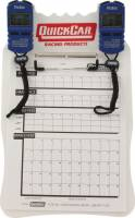 Timing & Scoring - Timing Clipboards - QuickCar Racing Products - QuickCar Clipboard Timing System - White - (2) Robic SC505 Watches - Red/White/Blue