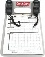 Timing & Scoring - Timing Clipboards - QuickCar Racing Products - QuickCar Aluminum Clipboard Timing System - (2) Robic SC505 Watches