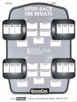 Chassis Set-Up Tools - Setup Sheets & Checklist - QuickCar Racing Products - QuickCar After Race Tire Results Forms Refill (50 Pack)