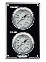 Dash Gauge Panels - Brake Bias Dash Panels - QuickCar Racing Products - QuickCar Mini Brake Bias Gauge Panel - Vertical - Black