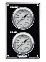 Dash Gauge Panels - Brake Bias Dash Panels - QuickCar Racing Products - QuickCar Mini Brake Bias Gauge Panel - Vertical - Black