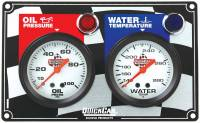 Dash Gauge Panels - 2 Gauge Dash Panels - QuickCar Racing Products - QuickCar 2 Gauge Panel - OP/WT