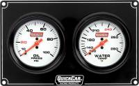 Dash Gauge Panels - 4 Gauge Dash Panels - QuickCar Racing Products - QuickCar Extreme 2 Gauge Dash Panel - WT/OP