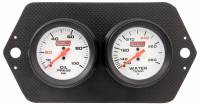 Dash Gauge Panels - 2 Gauge Dash Panels - QuickCar Racing Products - QuickCar Carbon Fiber Pro Sprint Panel - OP/WT