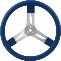 "Competition Steering Wheels - Aluminum - 15"" Aluminum Steering Wheels - QuickCar Racing Products - QuickCar Aluminum Steering Wheel 15"" - Blue"