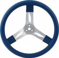 """Competition Steering Wheels - Aluminum - 15"""" Aluminum Steering Wheels - QuickCar Racing Products - QuickCar Aluminum Steering Wheel 15"""" - Blue"""