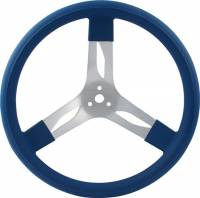 "Competition Steering Wheels - Aluminum - 17"" Aluminum Steering Wheels - QuickCar Racing Products - QuickCar Aluminum Steering Wheel 17"" - Blue"