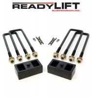 "ReadyLift - ReadyLift 2"" Lift Leaf Spring Block Hardware Included Rear Iron - Natural"