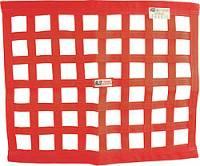 "Ribbon Window Nets - 24"" x 24"" Ribbon Window Nets - RJS Racing Equipment - RJS Red Ribbon Window Net - 24"" x 24"""