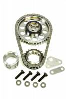 Recently Added Products - Rollmaster - ROLLMASTER-ROMAC Red Series Timing Chain Set Double Roller Keyway Adjustable Needle Bearing - Billet Steel