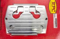 Battery Boxes, Trays and Components - Battery Trays - Racing Power - Racing Power Aluminum Battery Tray Chrome Optima Blue/Red/Yellow Top Batteries Type 34/78 - Each
